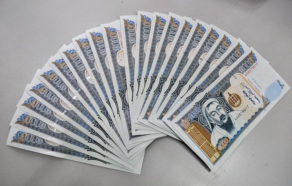 mongolské peníze